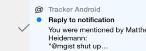 Swipe to read notifications in the Pivotal Tracker iOS app