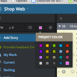 Selecting a color for a Pivotal Tracker project
