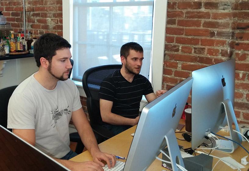 A developer pair working