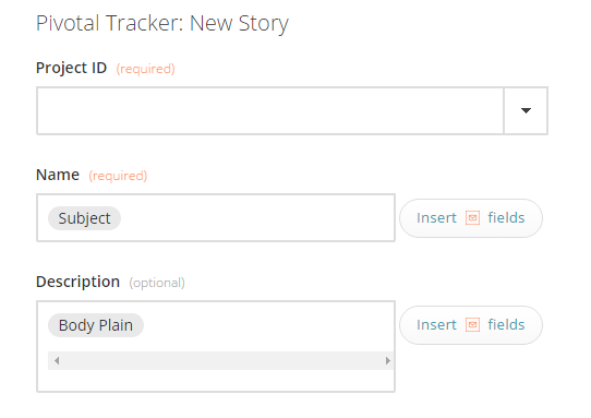 Select a Pivotal Tracker story