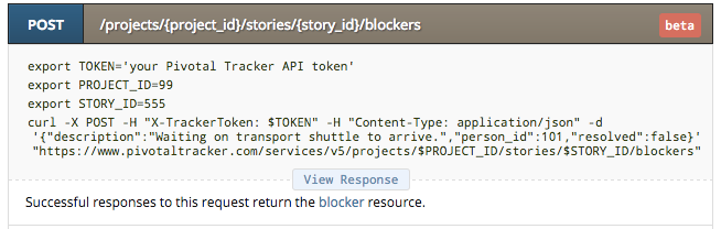 The blockers API endpoint.