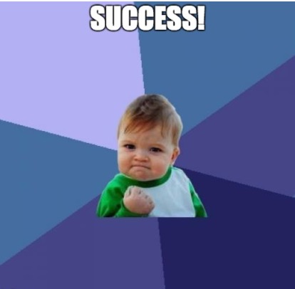 That one Success meme with the toddler making a fist.