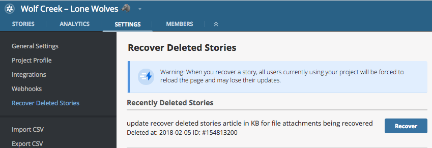 Recovering Deleted Stories blog post featured image
