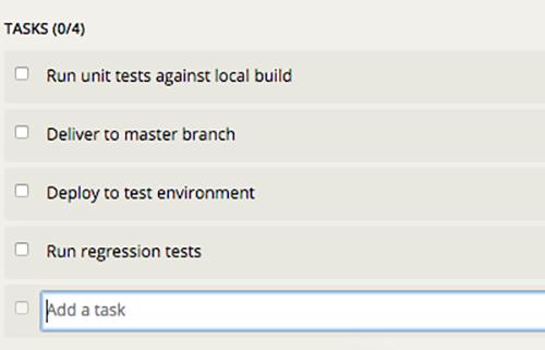Using task templates.