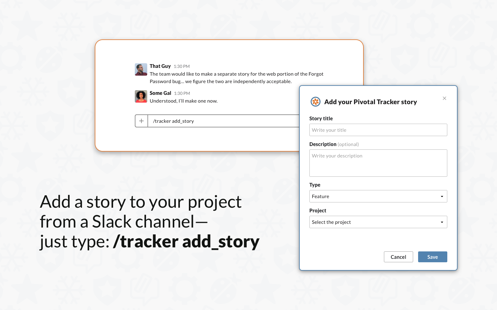 Add a story via Slack