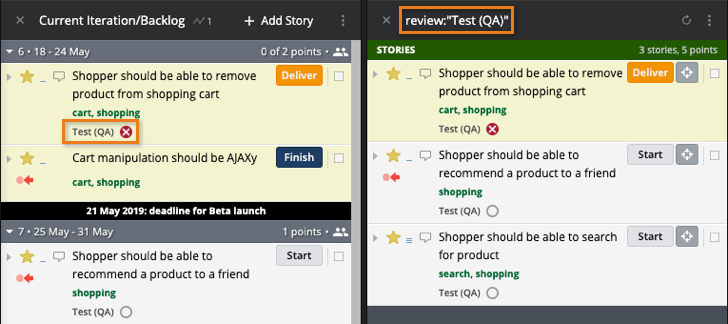 Using Reviews in Pivotal Tracker