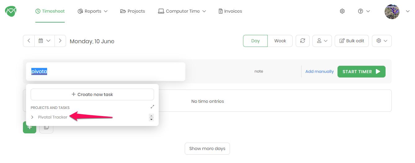 TimeCamp integration setup - step 6