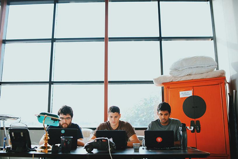 TINT team members working