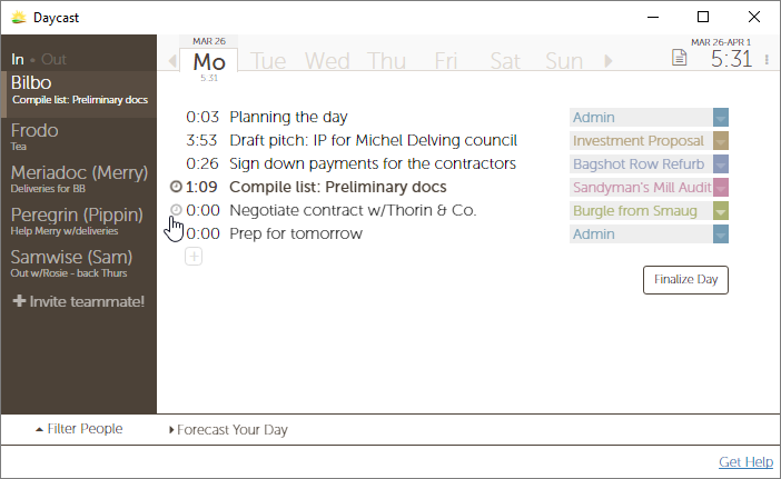Daycast screenshot