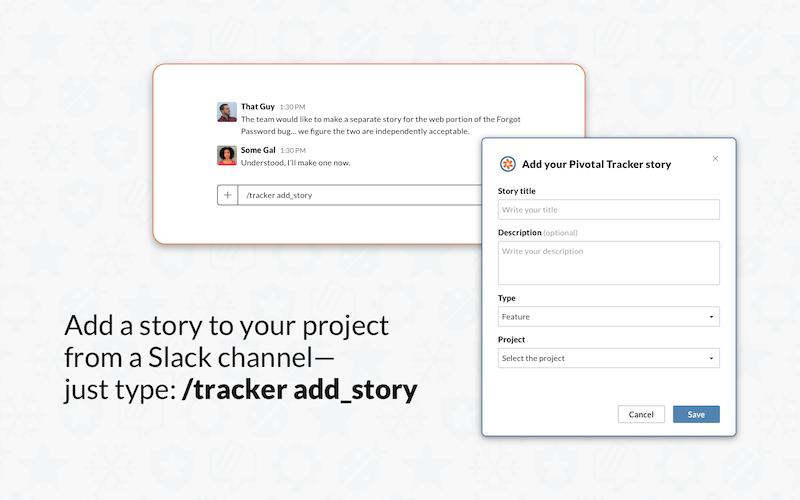 Slack integration for Pivotal Tracker - add story