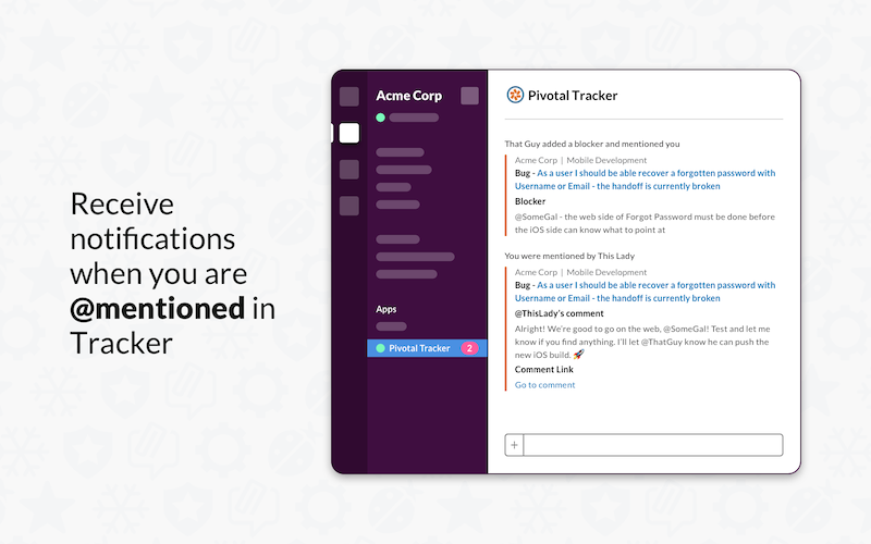 Slack integration for Pivotal Tracker - notifications